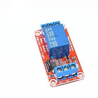 Punainen 5v yksi 1-kanavainen relemoduulin levysuojus optokoupler-tuella korkean ja matalan tason liipaisin 1 kanava 5v relemoduuli