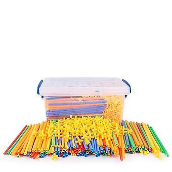 4d Paglia Plastica Cuciture Inserite Blocchi di Costruzione Toy