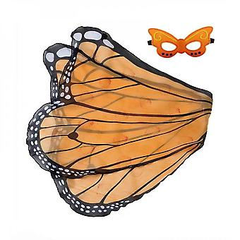 Kids Butterfly Wings Costume For Girls Dress Up Mask