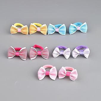 Cute Pattern Bow Design Elastic Hair Rubber Bands