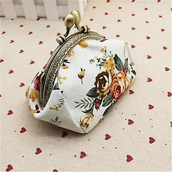 Lady Retro Vintage Blume Brieftasche