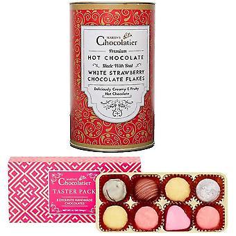 マーティンズショコラティエチョコレートテイスターパック&ホットチョコレートギフトセット ストロベリーチョコレート チョコレートを飲む
