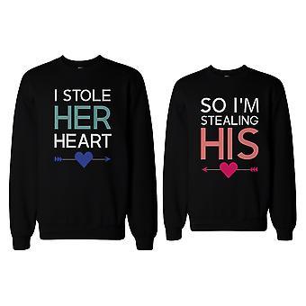Ich habe ihr Herz, damit ich seine lustige passende paar SweatShirts stehlen bin