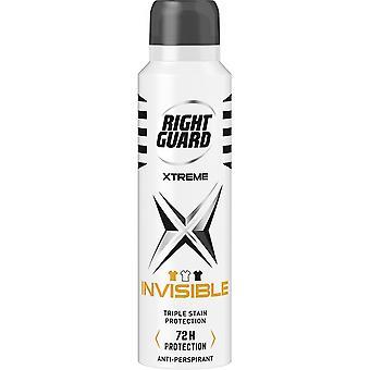 Höger vakt 6 X Höger Guard Xtreme Deodorant För Män - Osynlig