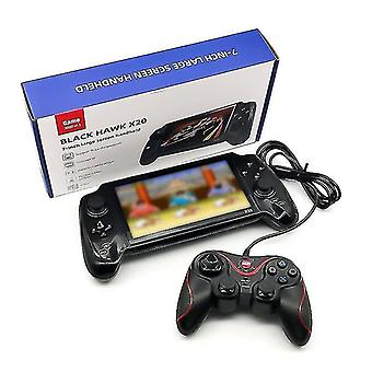Video game consoles x20 handheld game console 7 inch screen retro joystick support tf card double player video output