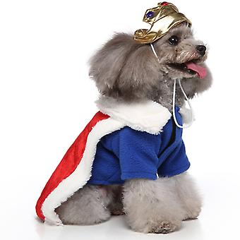 Mimigo Puppy Dog Pet Clothes Hoodie Warm Puppy Autumn Winter Coat Doggy Fashion Jumpsuit Apparel  Halloween Cosplay King With Crown