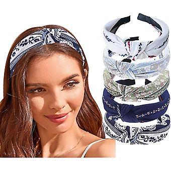 5pcs Ladies Headband Knotted Fashion Headwear Sports Daily Ladies And Girls Headband
