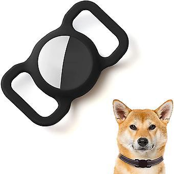 Hülle für Air Tag für Hundehalsband Silikon Schwarz Schutzhülle Anti Kratzer Anti Verloren