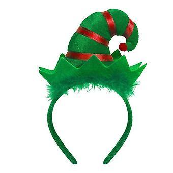 1pc Crăciun Headband Red Green Elf Hat Holiday Party favorizează copii adulți fete frizură