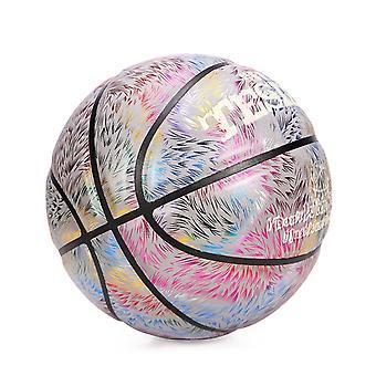 7サイズカラフルな反射PUレザーボールクールナイトギフト用バスケットボール