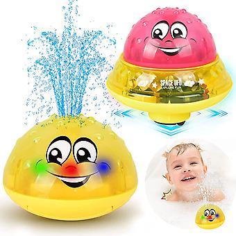 Bad Spielzeug Kinder, 2 in 1 Induktion Spray Wasserspielzeug mit LED Licht Musical