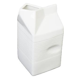 Latte e crema servono la brocca in ceramica bianco facile presa vaso 14,5 cm 0,5 l
