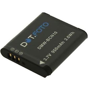Dot.Foto Panasonic DMW-BCN10, DMW-BCN10E, DMW-BCN10PP vervangende batterij - 3.7V / 950mAh