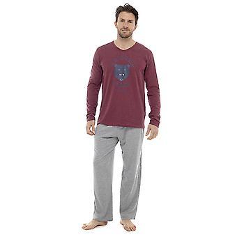 Mens Long Sleeve Arizona orsi Design Pyjama Lounge Wear