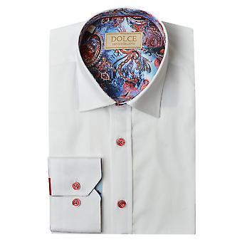 Dolce Paisley Trim Collar Mens Shirt