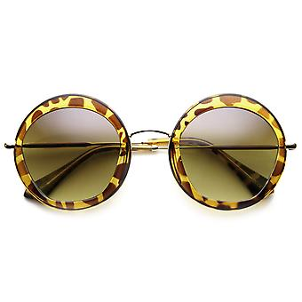 Round Fashion Frame Sunglasses Penta Cut Lens