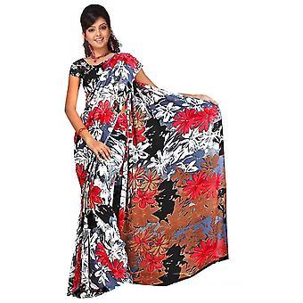 Chashmum Georgette afgedrukt Casual Saree Sari buikdansen stof