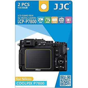 JJC Guard Film Crystal Clear Displayschutzfolie für Nikon Coolpix P7800 - kein Schneiden (2 Film-Pack)
