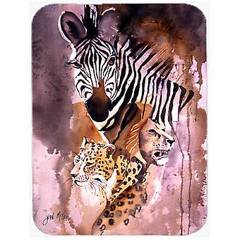Cheetah, Lion, and Zebra Glass Cutting Board Large