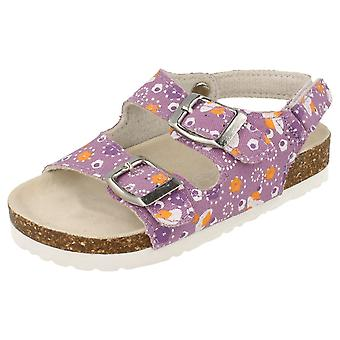 Girls Spot On Sandals / Twin Buckle Strap