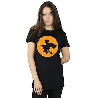 Star Wars Women's Boba Fett Broomstick Boyfriend Fit T-Shirt