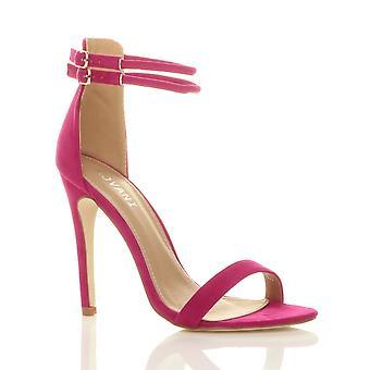 Ajvani naisten stiletto korkokengät tuskin on kaksinkertainen hihna solki puolue Sandaalit kengät