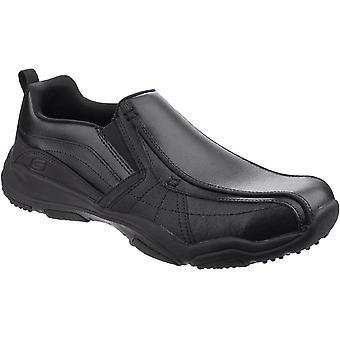 Skechers मेंस लार्सन Berto तेल से सना हुआ चमड़े आरामदायक आराम से फिट आवारा जूते