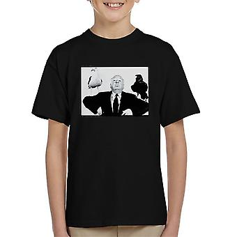 Alfred Hitchcock The Birds 1963 Crow Seagull Publicity Shoot Kid's T-Shirt