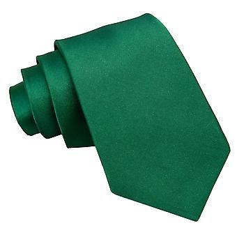 Emerald Green oformaterad Satin klassiska slips