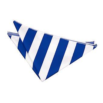 Royal blauw / wit gestreepte zak plein