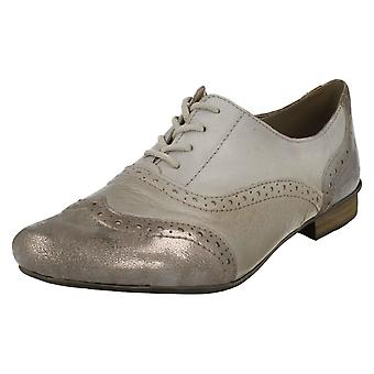 Ladies Rieker Casual Brogue Shoes 51933
