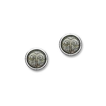 Sterling Silver Traditional Contemporary Astrology Zodiac Sign Design Pair of Earrings - EE583