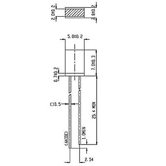 Everlight Opto 514UYD LED wired geel rechthoekig 2 x 5 mm 2.3 mcd-180 ° 10 mA 2 V