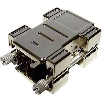 Provertha 87154M001 D-SUB adapter housing Number of pins: 15 Plastic, metallised 180 ° Silver 1 pc(s)
