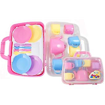 Peterkin Tea Set In Carry Case - Pink