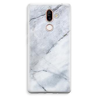 Nokia 7 Plus läpinäkyvä kotelo (pehmeä) - Marble white