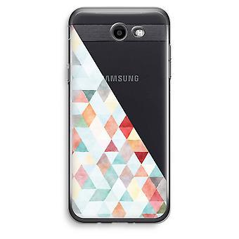 Samsung Galaxy J3 Prime (2017) przezroczysty (Soft) - pastelowe kolorowe Trójkąty