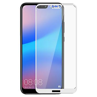 Imak curved full screen tempered glass protector for Huawei P20 Lite - White