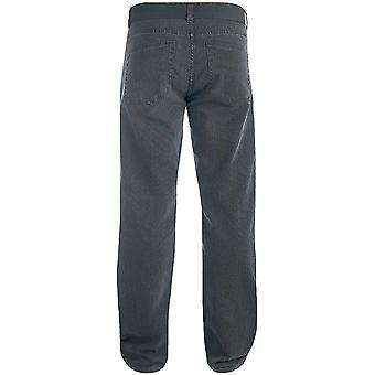 Hertig London Mens Canary stora höga kung storlek Bedford sladd Jeans byxor med bälte
