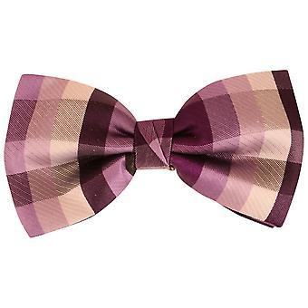 Knightsbridge dassen pleinen Silk Bow Tie - paars