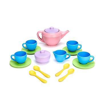 Grüne Spielzeug Tee Spielset