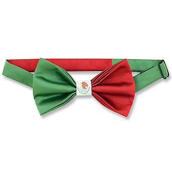 メキシコの旗メンズ蝶ネクタイ メキシコ愛国ボウタイ