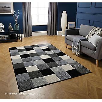 Portland Squares Grey Rug
