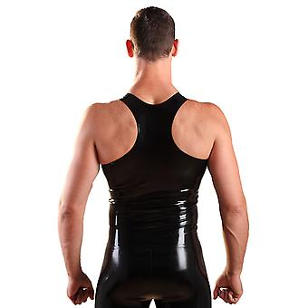 Latex Rubber Y-Back Singlet