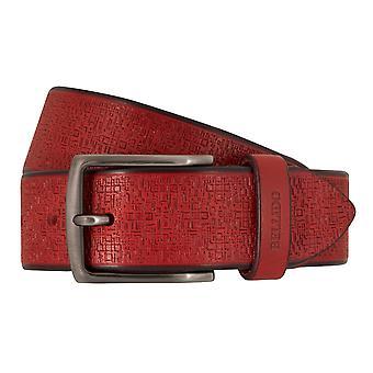 MIGUEL BELLIDO sports wear belts men's belts leather belt red 7700