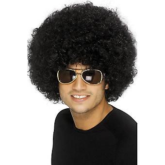 قصيرة شعر مستعار الأفرو الأسود، 70s شعر مستعار الأفرو الأسود غير تقليدي. ملابس تنكرية التبعي.
