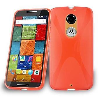 Cadorabo-kotelo Motorola MOTO X: lle (3. suku polvi) Kotelon suojus-matka Puhelin kotelo joustavasta TPU silikoni-silikoni kotelo suoja kotelo erittäin ohut pehmeä takakannen kotelo puskuri