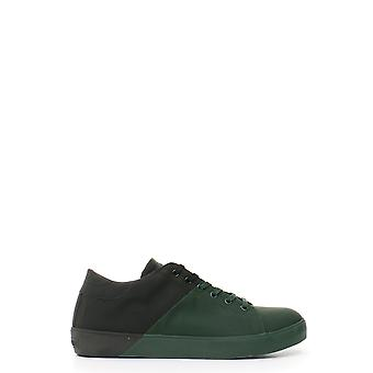 Cuir Crown Ezbc1111011 Men-apos;s Green Leather Sneakers