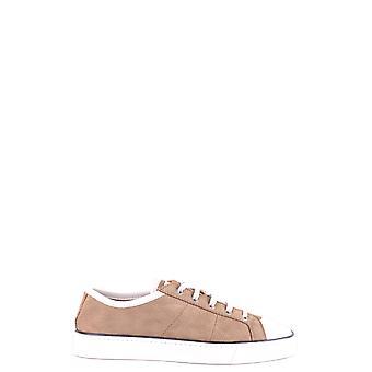 Santoni Mbgu20016hgblnaum53 Men's Brown Suede Sneakers