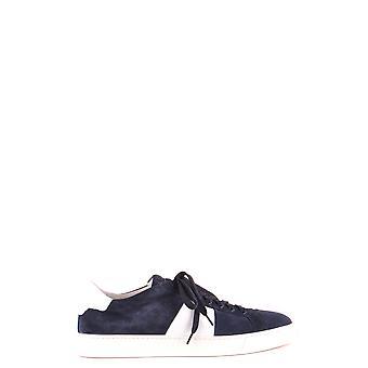 Santoni Mbgu20733panxjdeu50 Men's Blue Suede Sneakers